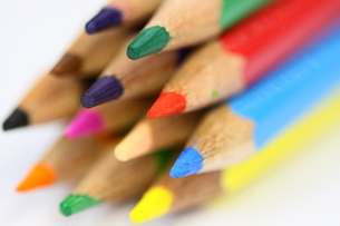 カラフル色鉛筆の先端部の素材 [FYI00404847]