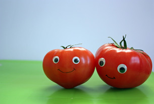 仲良しトマトの写真素材 [FYI00404903]