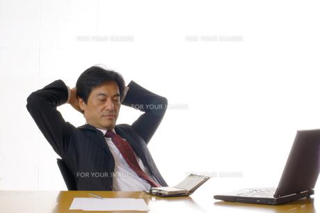 ビジネスマンのポートレートの写真素材 [FYI00405182]