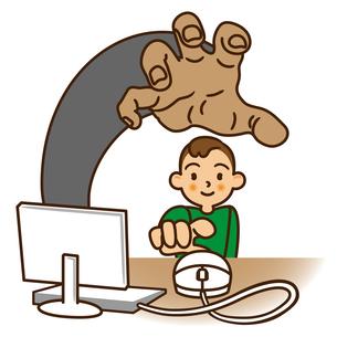 子供を狙う危険なホームページの写真素材 [FYI00405411]