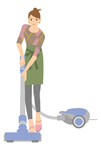 掃除する主婦の写真素材 [FYI00405415]