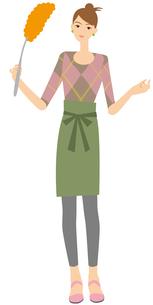 ハンディモップで掃除する主婦の写真素材 [FYI00405444]