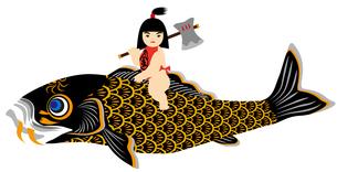 鯉と金太郎の写真素材 [FYI00405466]