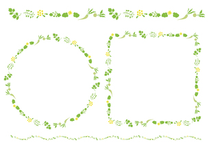 七草枠素材の写真素材 [FYI00405467]