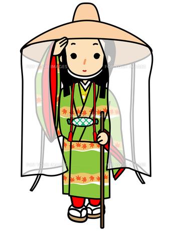 市女笠姿の姫の写真素材 [FYI00405495]