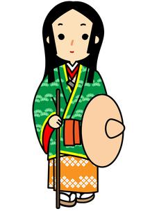 市女笠姿の姫の写真素材 [FYI00405517]
