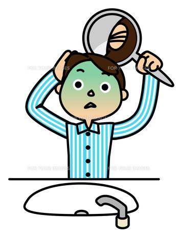 後頭部を見てショックを受ける男性の写真素材 [FYI00405557]