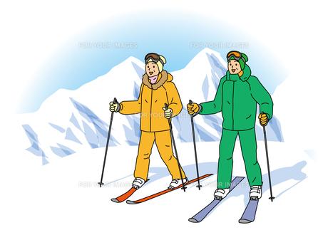 スキーするシニア夫婦の素材 [FYI00405573]