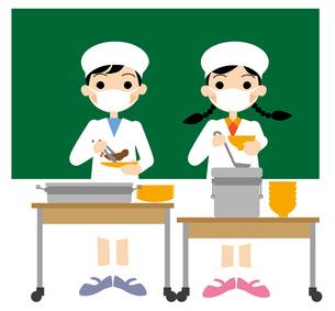 小学校給食当番の写真素材 [FYI00405590]