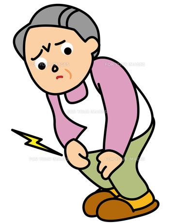 ひざが痛いおばあさんの素材 [FYI00405611]