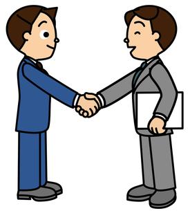 握手するビジネスマン同士の写真素材 [FYI00405635]