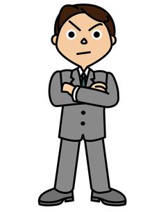 毅然としたビジネスマンの写真素材 [FYI00405642]