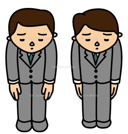 お詫びするビジネスマンの写真素材 [FYI00405658]