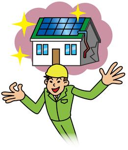 太陽光発電をすすめる悪徳業者の写真素材 [FYI00405694]