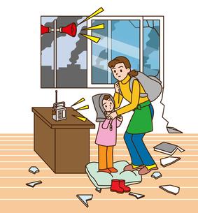 地震避難の写真素材 [FYI00405714]