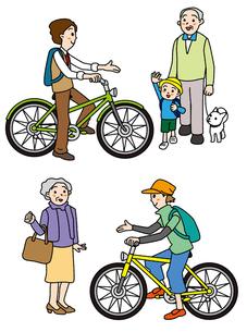 自転車走行の心遣いの写真素材 [FYI00405727]