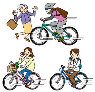 暴走無謀運転の自転車の写真素材 [FYI00405734]