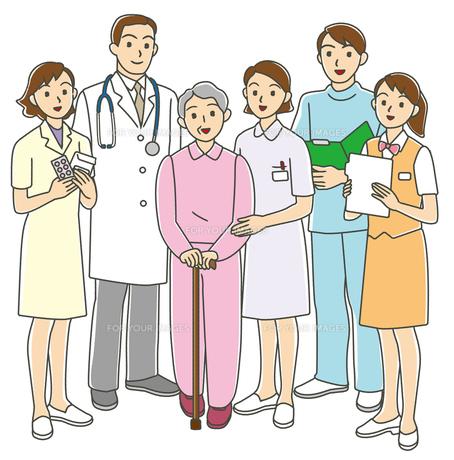 高齢者と医療スタッフの写真素材 [FYI00405737]