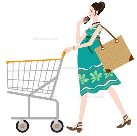 買い物するプレママの写真素材 [FYI00405747]