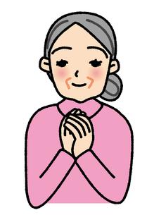 幸せなおばあさんの素材 [FYI00405761]