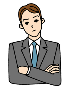 考慮中のビジネスマンの写真素材 [FYI00405764]