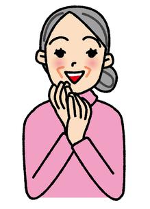 喜ぶおばあさんの素材 [FYI00405767]