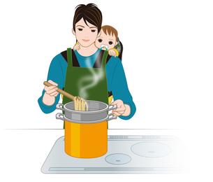 料理するイクメンの写真素材 [FYI00405788]