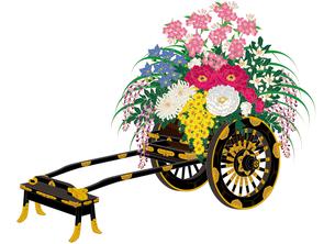 四季の花車の写真素材 [FYI00405815]