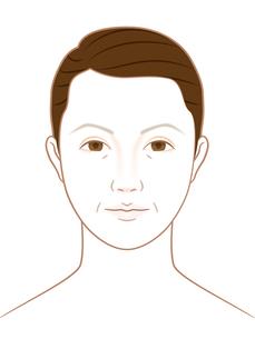 シニア女性の顔の写真素材 [FYI00405827]