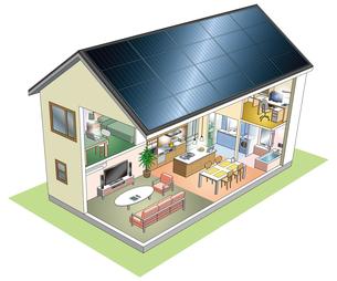 太陽光発電の家の写真素材 [FYI00405865]