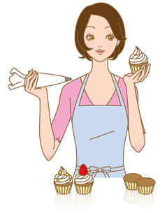 カップケーキを作るの素材 [FYI00405886]