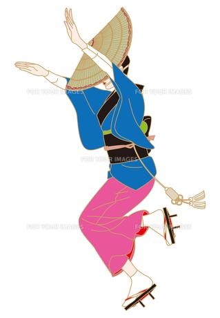 阿波踊りの女踊りの写真素材 [FYI00405917]