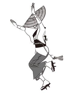 阿波踊りの女踊りの写真素材 [FYI00405923]