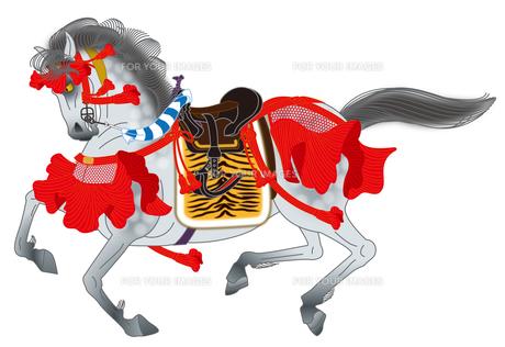 連銭芦毛の軍馬の写真素材 [FYI00405937]