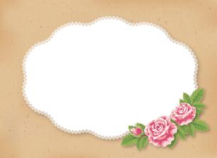 薔薇のフレームの素材 [FYI00405956]