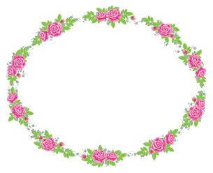 薔薇のフレームの写真素材 [FYI00405989]