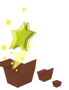 箱から飛び出た星の写真素材 [FYI00406805]