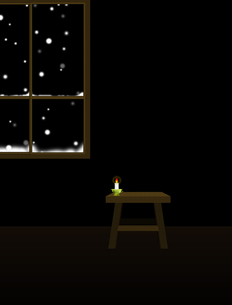 雪降る夜・縦長の素材 [FYI00406813]