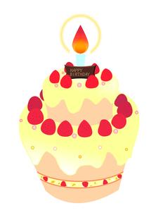 バースデーケーキの写真素材 [FYI00406894]