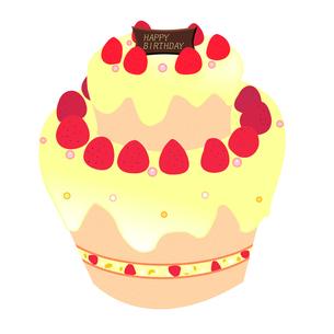 バースデーケーキの写真素材 [FYI00406899]