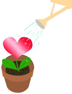 ハートの花の水遣りの素材 [FYI00406988]