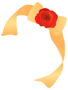 バラ飾りのリボンの写真素材 [FYI00407009]