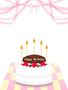 バースデーケーキの写真素材 [FYI00407018]