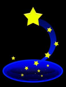 飛び出す星の写真素材 [FYI00407024]