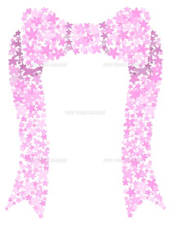花でできたリボンの写真素材 [FYI00407104]