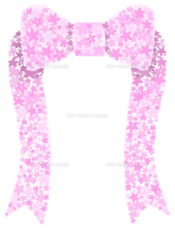 花でできたリボンの写真素材 [FYI00407107]