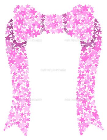 花でできたリボンの写真素材 [FYI00407110]