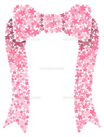 花でできたリボンの写真素材 [FYI00407113]