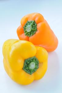 パプリカ黄色オレンジの写真素材 [FYI00407134]