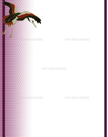 丹頂鶴の和風背景イラストの素材 [FYI00407433]